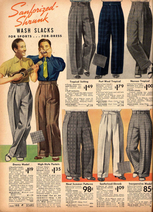 ~ Sears & Roebuck Spring and Summer, 1938via Flickr(click to enlarge)