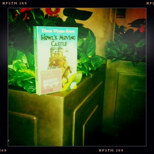 #dwj2012 @greenwillowbook planted Howl's Moving Castle for #rockthedrop 2012! dwj2012:  April 12 was this year's Rock the Drop — and Greenwillow was there, Diana's books in hand!