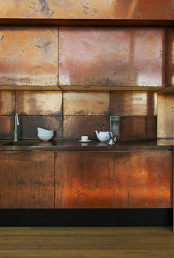 pop-deco:  modern copper kitchen
