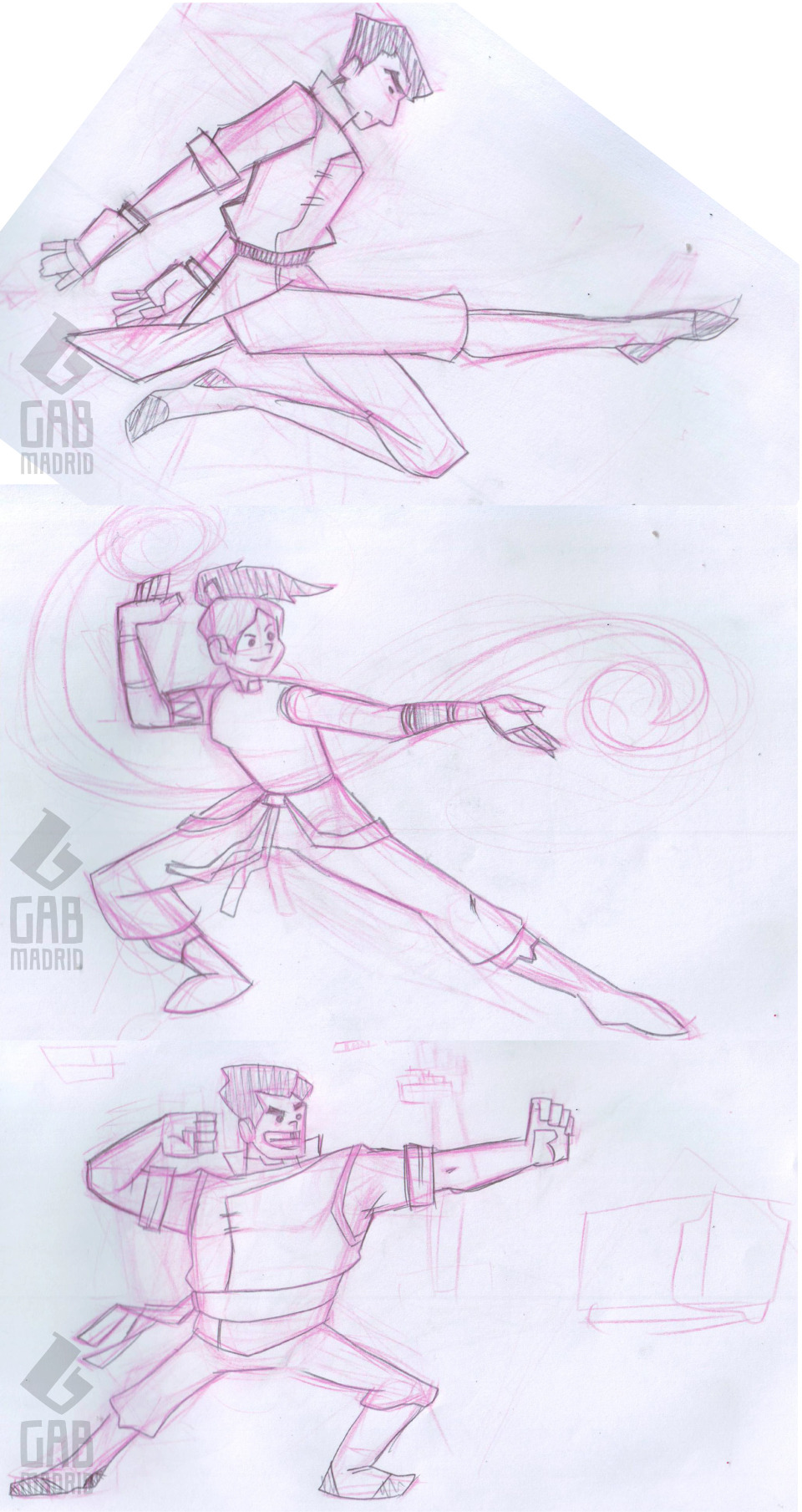 Fire Ferrets sketch!Have you seen the Legend of Korra premiere on Nickelodeon today? Watched it a couple of hours ago on a livestream by Korralations on Ustream. 2 Episodes, back-to-back! Way to start the series! (Note: Didn't watch it today for the first time though; I have watched the 900MB 720p file of the 2-episode premiere about a month ago. Just wanted to see it again, with ads and all. Plus, fanboying together with a few members of the fandom is cool, too.) Mako looks like he's dancing here. Fixed that while I was inking on this one. Will upload the inked version soon. HOLD THE PHONE. STOP THE PRESSES. FRESH AND JUICY.