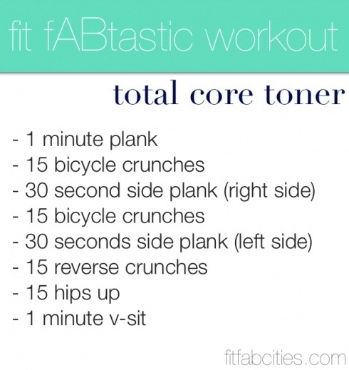 heyfranhey:  This will have your abs on 10! If you don't know the workouts, look them up on YouTube.