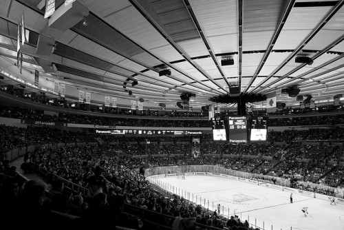 stadium-love-:  Ice Hockey by Luke Redmond Madison Square Garden: Home of the New York Rangers