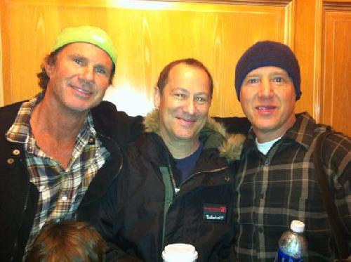 Chad Smith, Cliff Martinez and Jack Irons Yesterday! Cliff and Jack will Jam with the Red Hot Chili Peppers during their performance at the Hall of Fame Ceremony later today! Most likely playing on Give It Way according to Chad.