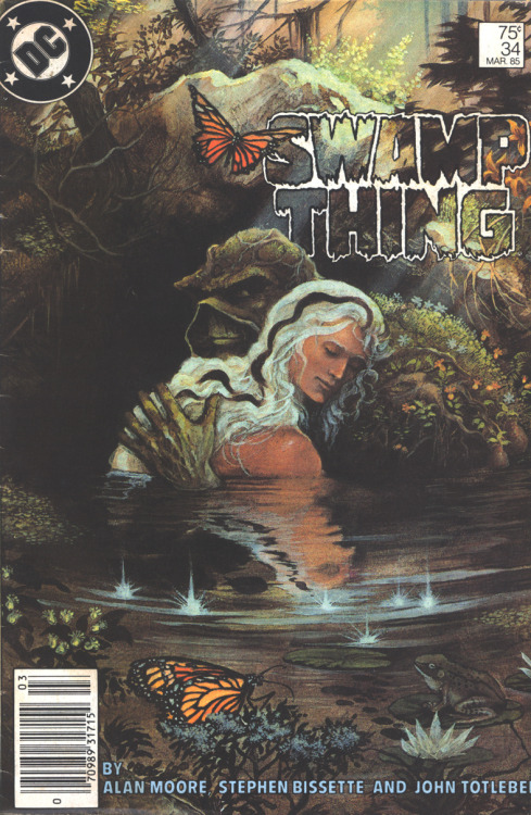 Saga of Swamp Thing #34, March 1985, written by Alan Moore, penciled by Stephen Bissette