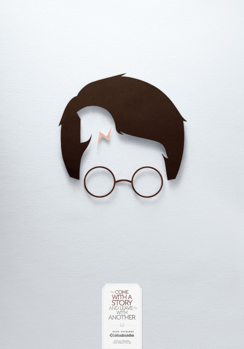 Harry Potter and The Iliad in the same poster! Can you spot them?