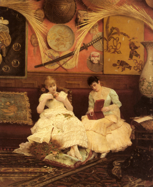 A Quiet Moment Georges Croegaert 1884
