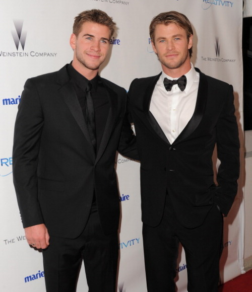 Minion and me are in agreement… Chris and Liam Hemsworth are swoon worthy. #SheSaidItFirst #IJustAgreed #GoodMomma @Its_Minion