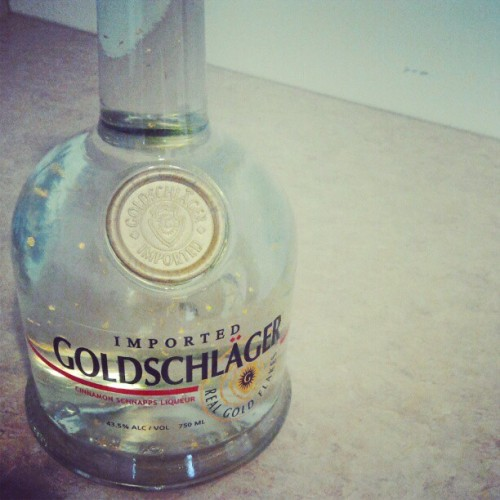 psychologicalnotions:  #Goldshlager mmmhmm!  (Taken with instagram)  He he he he