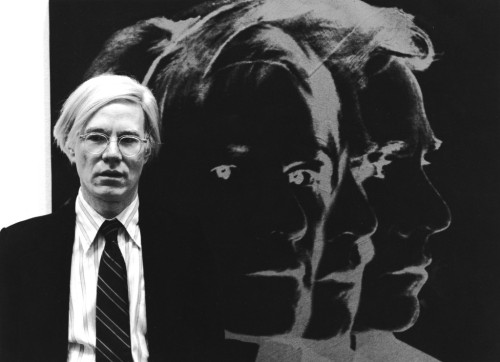 Andy Warhol. Positive and negative. Photo by Kurt Wyss from Zürich 1978, via inneroptics