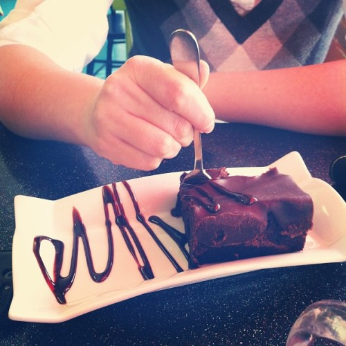 @doctorfrenchie is having what looks to be the best brownie ever. (Taken with instagram)