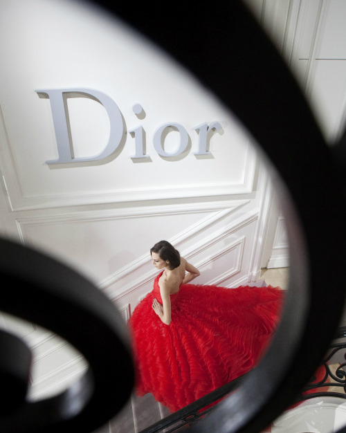 Aymeline Valade at Christian Dior haute couture s/s 2012, photographed by Gerard Uferas