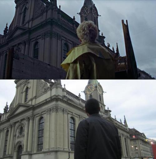 Movie: On Her Majesty's Secret ServiceActor: Bernard HorsfallLocation: Church of the Holy Ghost, Bern, Switzerland (Heiliggeistkirche, Bern, Schweiz) Photographer: Lukas Lash