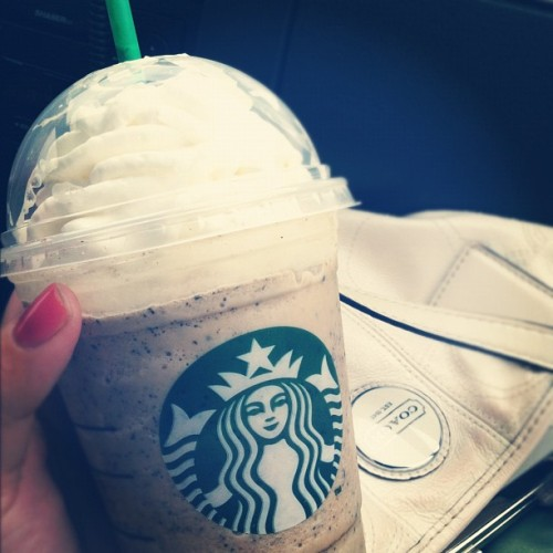 I've dubbed this creation the Thin Mint Frappuccino.  (Taken with Instagram at Starbucks)