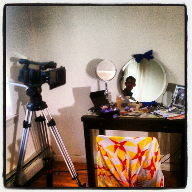 On set… Booming… #nyu  (Taken with instagram)
