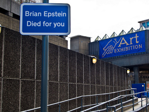 "Brian Epstein Died For You on Flickr.A wonderful double header at the Hayward Gallery. Jeremy Deller ""Joy In People"" / David Shrigley ""Brain Activity"". Both were excellent. I admire Jeremy Deller and was very keen to catch this exhibition. It was great. David Shrigley was fab too. Alas no photography in the exhibition so I aside from a pin badge and the brochure I have not much else to show."
