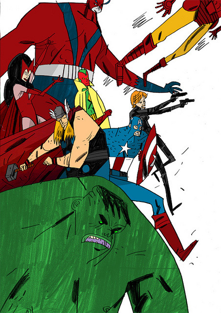 somethingsforyoutolookat:  Avengers by W J C on Flickr.
