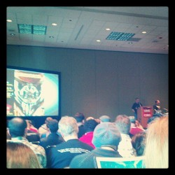 killkillradio:  Before Watchman panel C2E2 2012.  (Taken with instagram)  The artwork they showed at this was so damned cool. I can't wait for this to come out. Haters gonna hate.