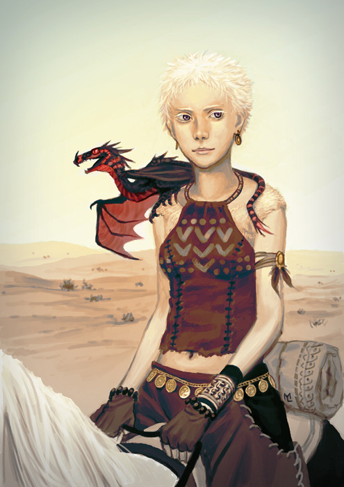 I was doodling some pale kid and it turned into Daenerys