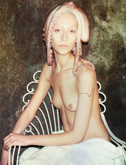 "dustulator:  Alana Zimmer in ""in an Octopus Garden"" shot by sofia sanchez & mauro mongiello & styled by chloe kerman for garage #2, spring/summer 2012."