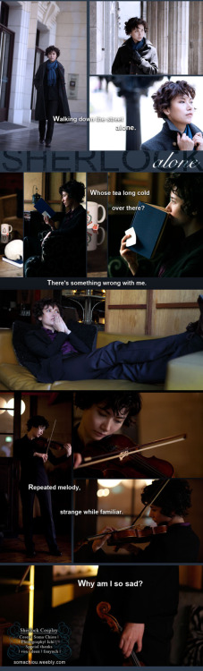 "astoriahu:  somachiou:  Sherlock cosplay_ Alone by ~somachiou Um…..I cos Sherlock, thanks Ichi took those photos. >""<///The background story is John left Sherlock so he deleted the memory about John. UUOther photos please see here.  上次想的果然成真了!!(就是大大说要穿着cos装参加同人展来着的)大大你有新浪围脖吗?如果没有我可以转到围脖上吗?  我沒有微博,轉圖只要註明出處與不要改圖其他請自便"