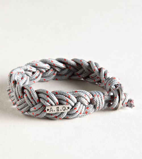 This is a AEO Grey Rope Bracelet from american eagle