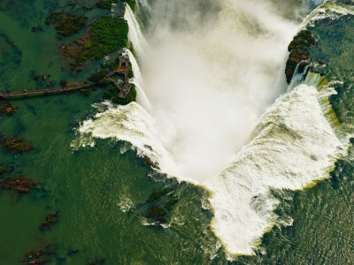 Aerial view of Iguazu Falls by Chris Schmid