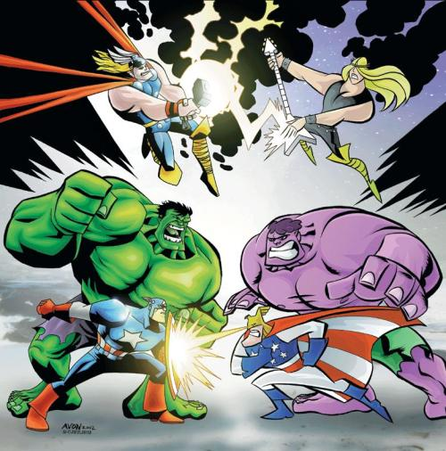 Avengers Vs. Justice Friends by Michael Avon Oeming Want more in-depth Temporal Flux? Checkout the original blog