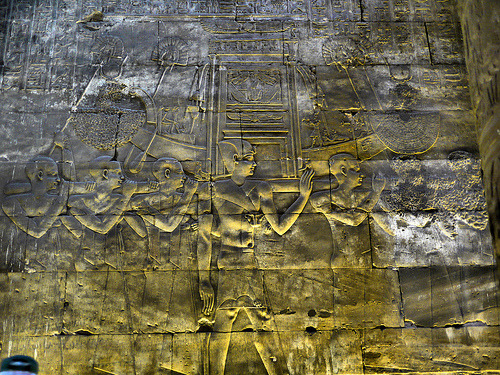 aboutegypt:  P1060997 Temple at Edfu [b&c,clr] (by LordLiverpool)
