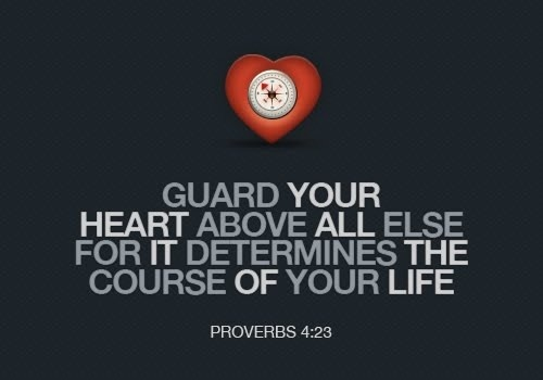 spiritualinspiration:  Keep and guard your heart with all vigilance and above all that you guard, for out of it flows the springs of life (Proverbs 4:23). God is constantly trying to plant new seeds of victory inside of you, and your heart is the soil for those seeds. If you harbor bitterness, jealousy, or pride in your heart, those seeds won't be able to take root and develop in your life. Jesus told the story of how the enemy comes to steal the seed of God's Word through temptations, cares, and anxieties. But you are good ground for the seed of the Word when you guard your heart by standing and believing that God's promises will come to pass - even when the circumstances don't agree. Don't allow discouragement to affect your faith. Stand and guard your heart, knowing that through faith and patience, you will inherit all of God's promises for your life!