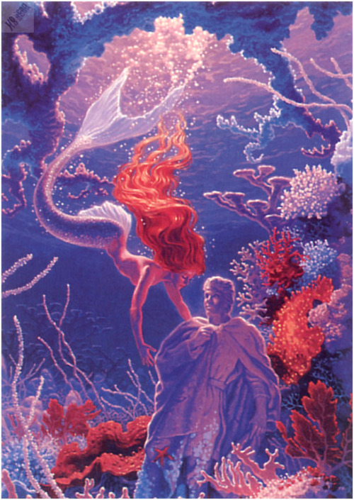 "flippinyourfins:  ""The Little Mermaid"" by Greg Hildebrandt"