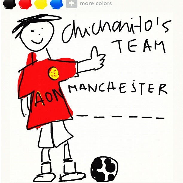 Draw something #united #Manchester #chicharito #drawsomething (Tomada con instagram)
