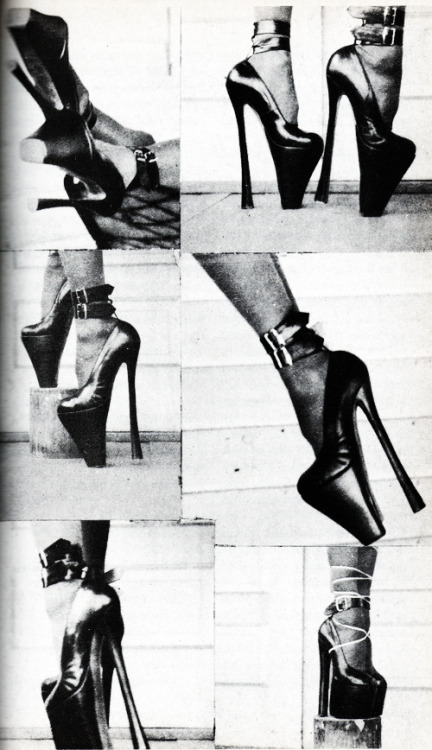 Fetish heels in John Willie's Bizarre Magazine issue 9, 1952