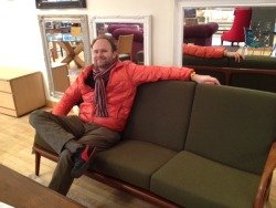 Some olive sofa that we didn't buy