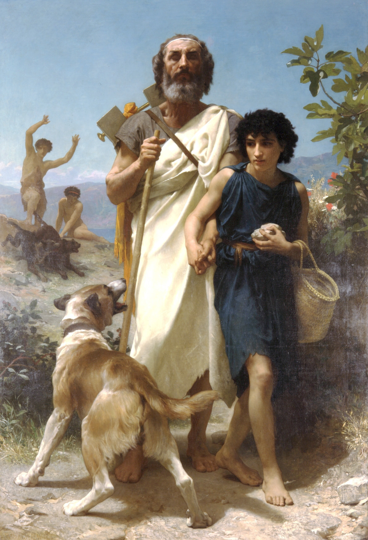 Homer and His Guide (1874), oil on canvas, Milwaukee Art Museum | artwork by William-Adolphe Bouguereau