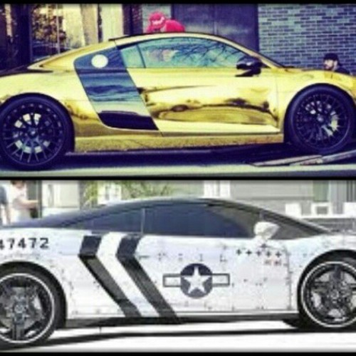 When you see these cars on the street you already know what to do #TeamTyga #TeamBreezy (Taken with instagram)