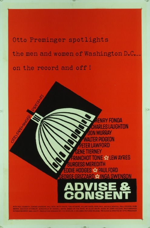 ADVISE AND CONSENT i love me some otto preminger