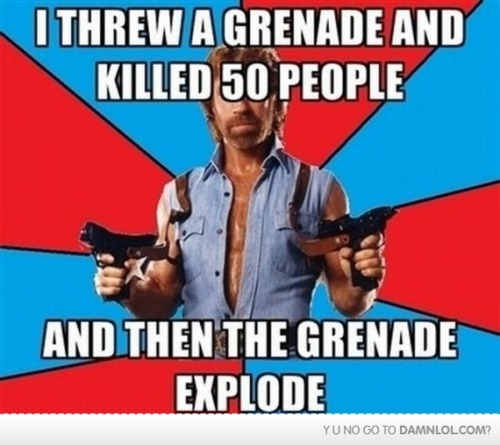 then…. PLEASE DON'T THROW THE GRENADE AT ME D:!!!!!