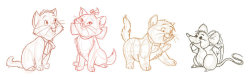 m-animation:  Aristocats Sketches by ~Emerald-Eden