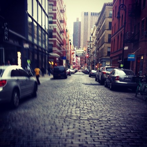 Riding in SOHO.  (Taken with instagram)