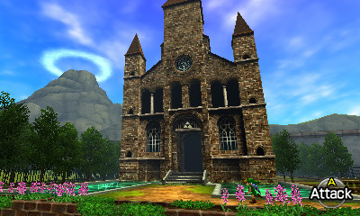 Ocarina of Time 3D- Temple of Time Outside