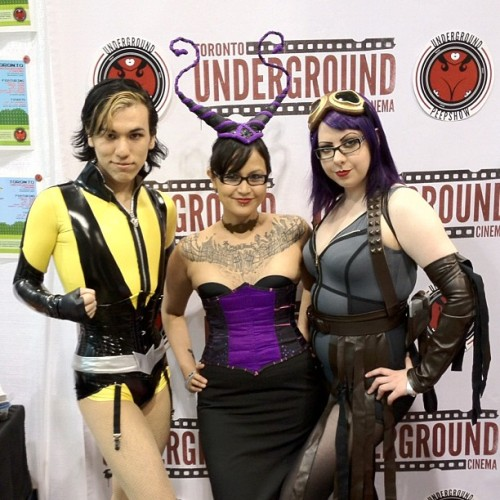 sevvyskellington:  Underground Peepshow! :) #wizardworld (Taken with instagram)  We have a booth at the 2012 Wizard World Toronto Comic Con at the MTCC! Stop by tomorrow and say hi. Advanced ickets to our Nintendo Show on June 2nd will also be available at the con!
