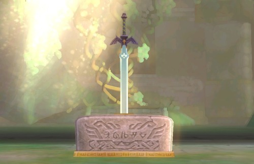Skyward Sword- Pedestal of Time with Master Sword