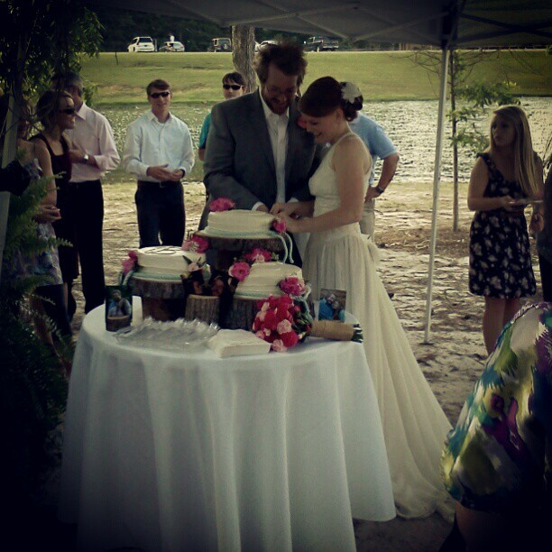 Cutting the cake :) they are precious!!  (Taken with instagram)