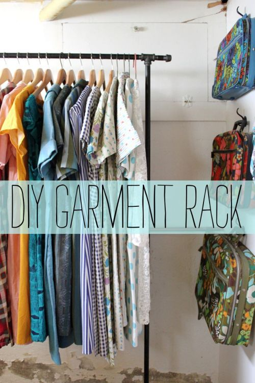 (via Garment Rack D.I.Y. - A Beautiful Mess)