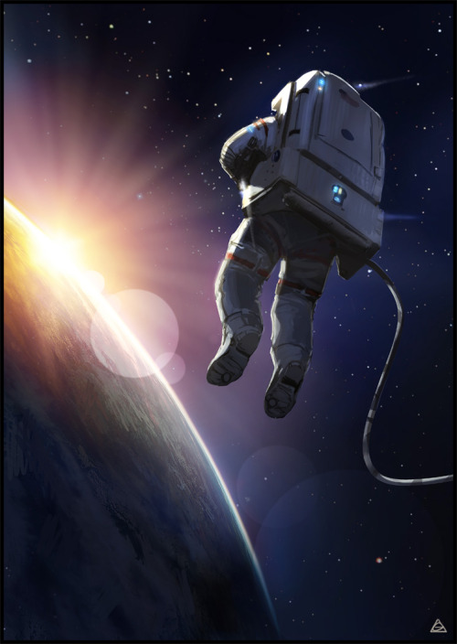 moonzerotwo:  Space Suit Sunset - jamga via deviantART