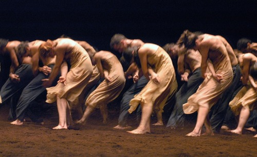 Pina Bausch's deconstuction of The Rite of Spring (originally choreographed by Vaslav Nijinsky).  Music by Igor Stravinsky.