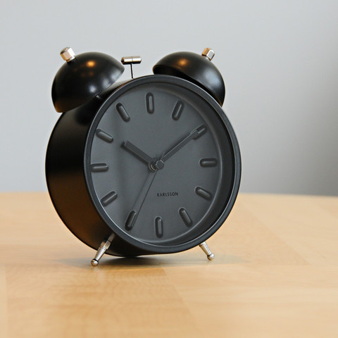 "A total black alarm clock (4.3"" diameter)Buy It Here!"