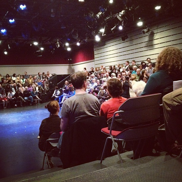 Packed house for the #wam24 hour project! Break legs all!  (Taken with Instagram at Shakespeare & Co.)