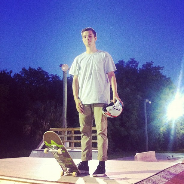 Jayeson's first time at #kona #skateboarding  (Taken with Instagram at Kona)