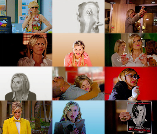 "The Most Captivating Women on Television Right Now Eliza Coupe as Jane Kerkovich-Williams - Happy Endings ""Drunk Jane loves a good cleaning."""
